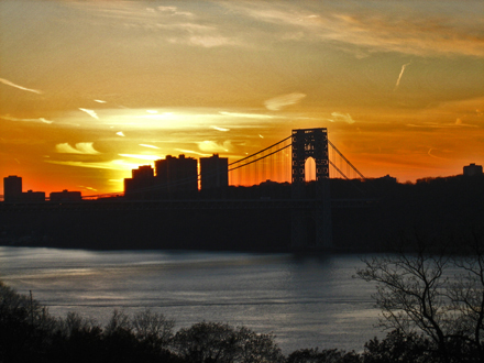 fort tryon sunset